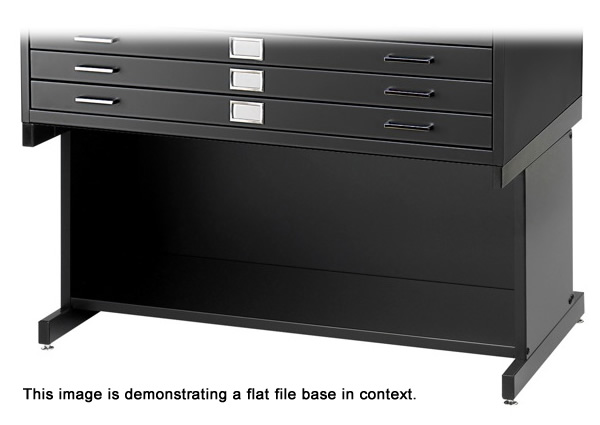Safco high base for flat files.