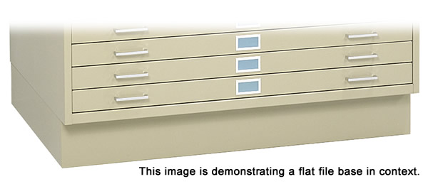 Safco closed flat file base.