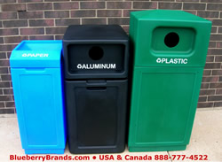 USA made top quality recycling bins instock for immediate delivery.