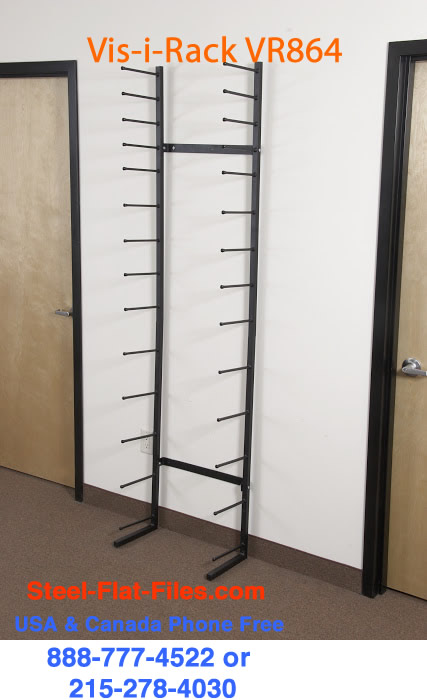 Brookside Design VR864 roll print storage rack in stock steel-flat-files.com