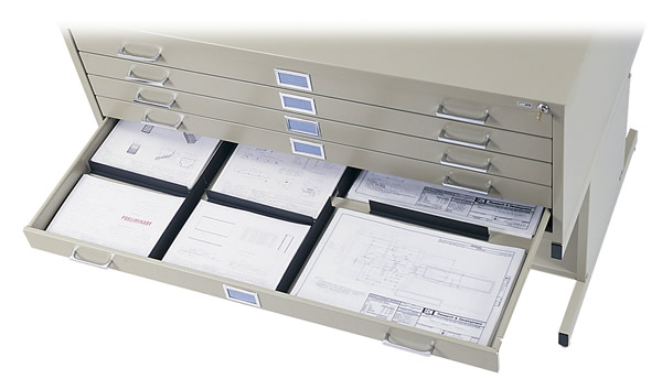 Drawer dividers for Safco flat files.