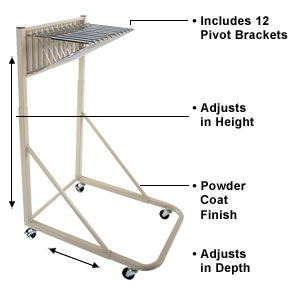 Mobile racks are ideal for getting large document work to exactly where it's needed in your office.