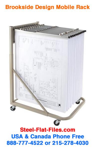 Brookside design mrwh mobile racks for large documents plans mobile racks for large documents plans blueprints malvernweather Images