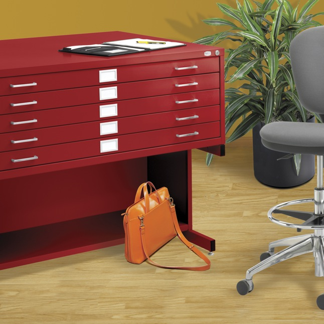 Safco flat files come in a remarkable variety of custom colors, at no extra charge.
