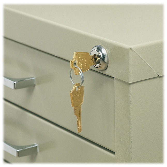 Safco locking steel flat file image.
