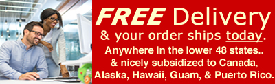 Free delivery for drop lift wall racks.