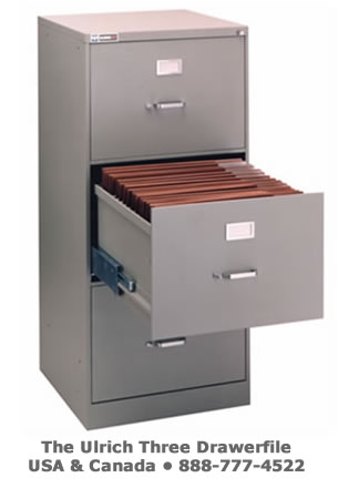 Ulrich THREE DRAWER FILES for computer aided design of large documents- storage from Blueberry Brands, will get the job done for you!